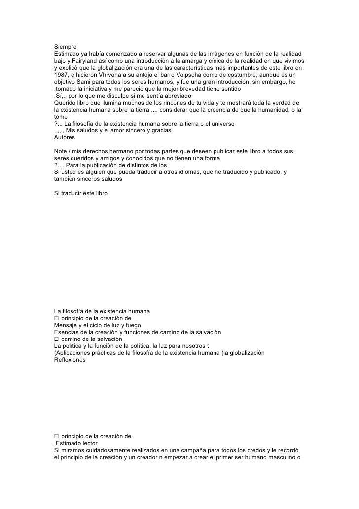 La FilosofíA Humanitaria De La CreacióN De الاسبانية