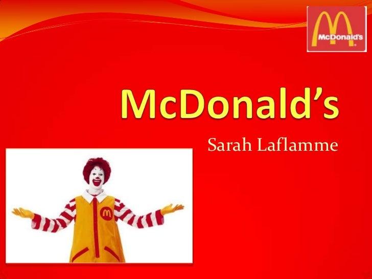 Laflamme Sarah McDonalds
