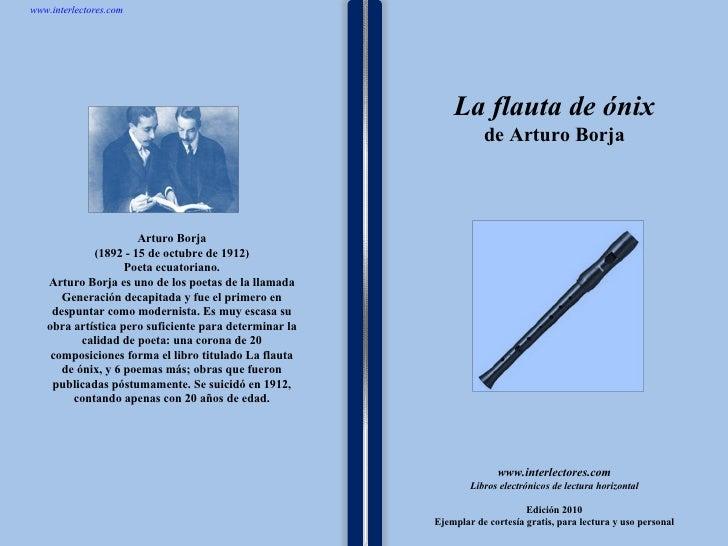 La flauta de onix de arturo borja