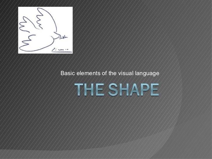 Basic elements of the visual language