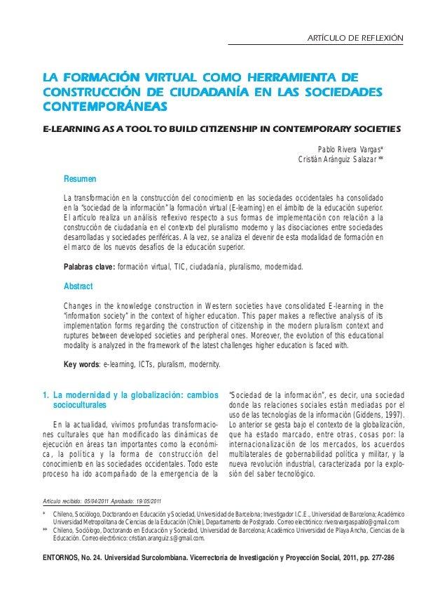 277 LA FORMACIÓN VIRTUAL COMO HERRAMIENTA DELA FORMACIÓN VIRTUAL COMO HERRAMIENTA DELA FORMACIÓN VIRTUAL COMO HERRAMIENTA ...