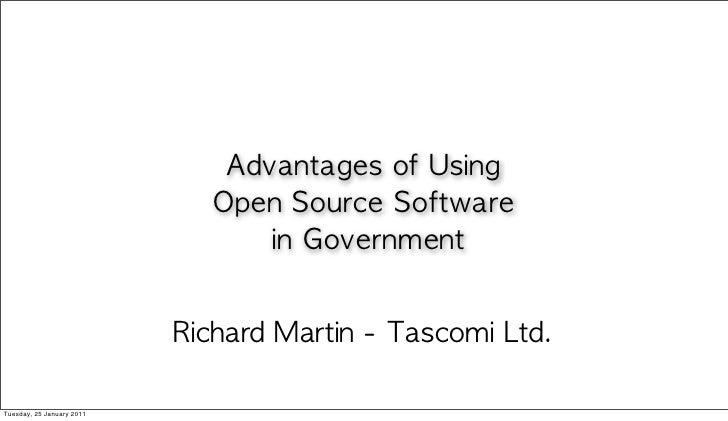 Richard Martin, Tascomi Presentation to LGOSW