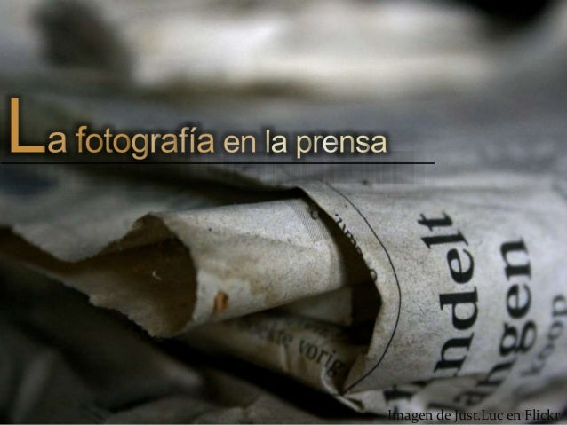 La fotografía en la prensa