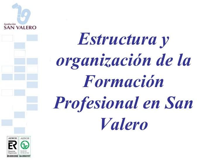 Estructura y organización de la Formación Profesional en San Valero