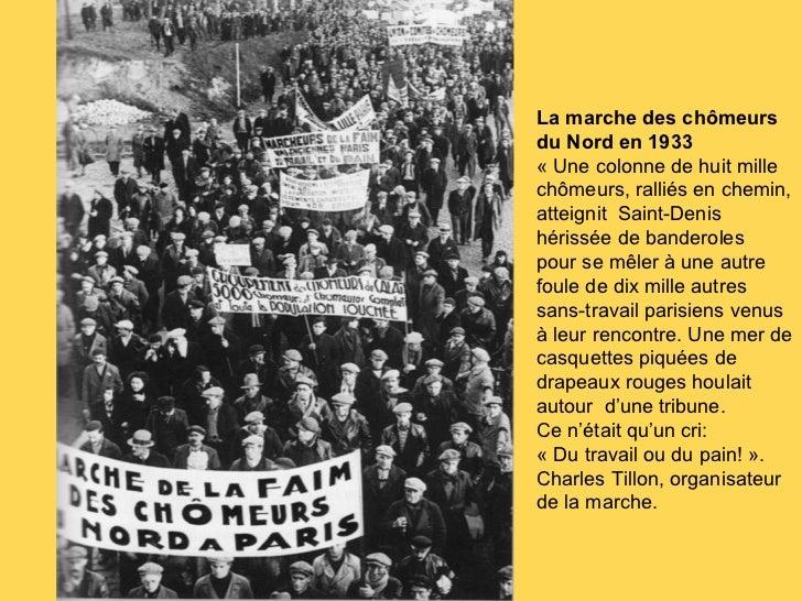 Les manifestations de chômeurs dans les années 1930