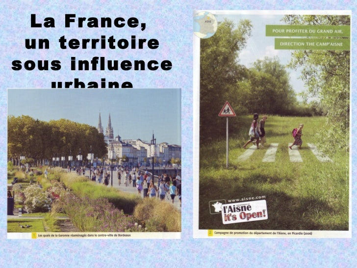 La France, un territoiresous influence   urbaine