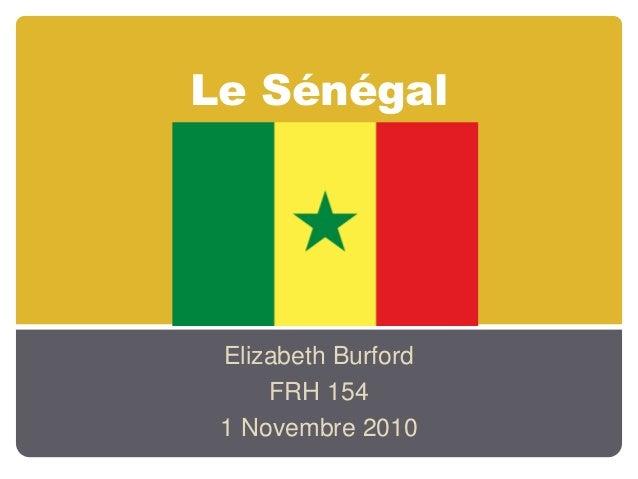 Le Sénégal Elizabeth Burford FRH 154 1 Novembre 2010