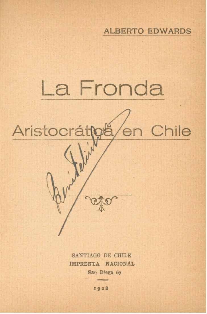 La fronda aristocatica de chile