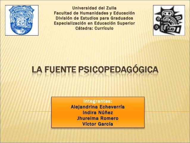 Universidad del ZuliaFacultad de Humanidades y Educación División de Estudios para GraduadosEspecialización en Educación S...
