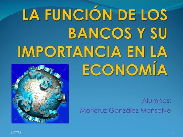 La función de los bancos y su importancia