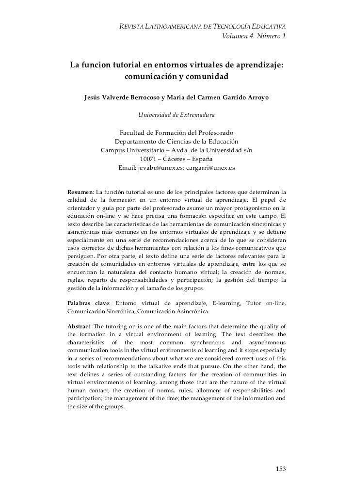 REVISTALATINOAMERICANADETECNOLOGÍAEDUCATIVA                                                   Volumen4.Número1 La...