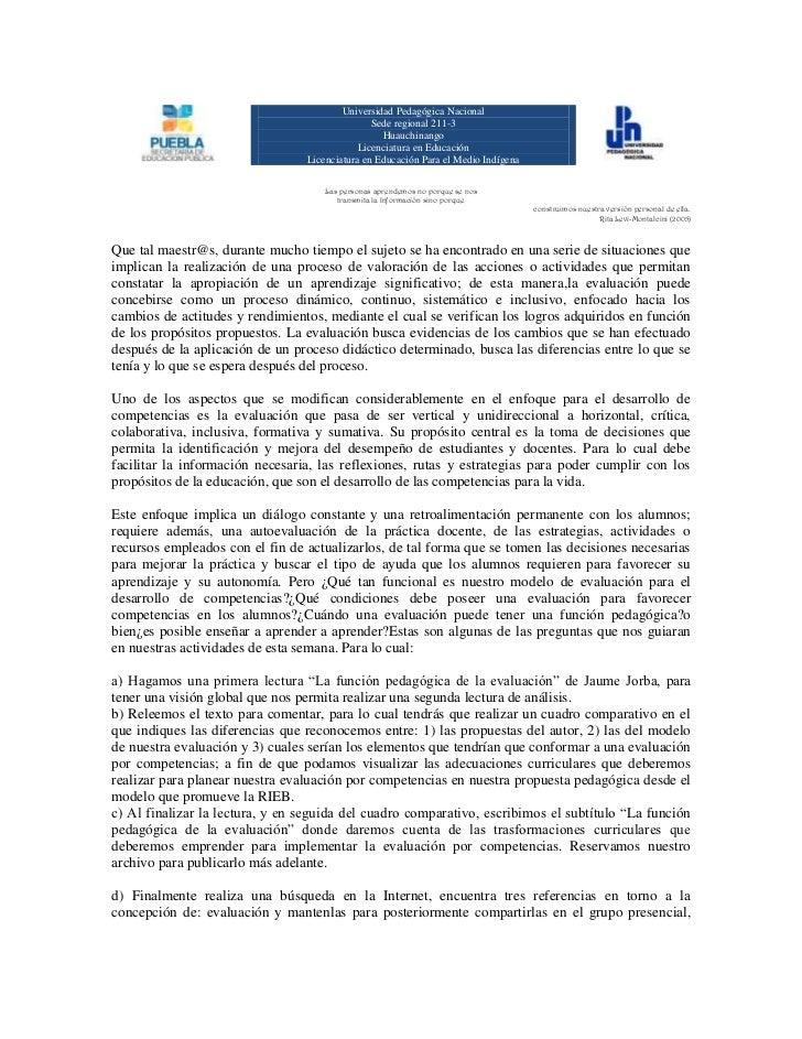 Universidad Pedagógica NacionalSede regional 211-3 Huauchinango Licenciatura en EducaciónLicenciatura en Educación Para el...