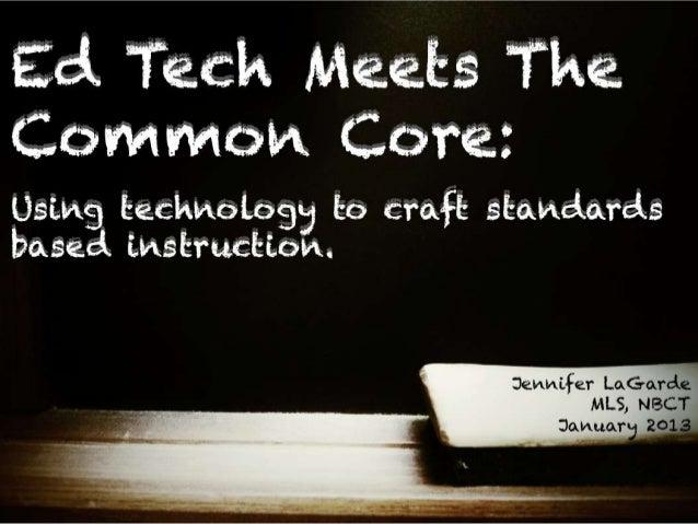 Ed Tech Meets Common Core