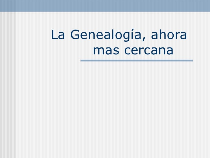 Manual de Genealogía