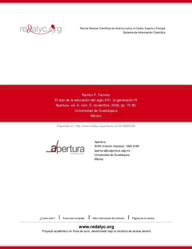 Disponible en: http://www.redalyc.org/articulo.oa?id=68800506 Red de Revistas Científicas de América Latina, el Caribe, Es...