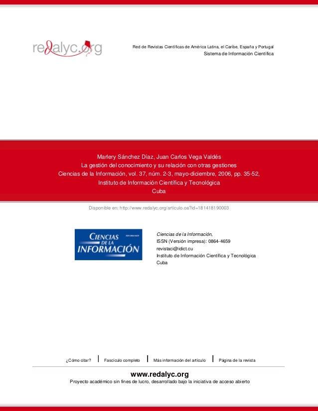 Disponible en: http://www.redalyc.org/articulo.oa?id=181418190003 Red de Revistas Científicas de América Latina, el Caribe...