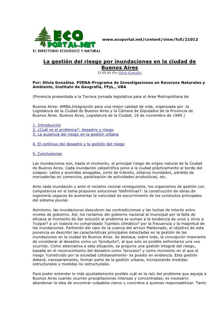www.ecoportal.net/content/view/full/21012<br />La gestión del riesgo por inundaciones en la ciudad de Buenos Aires31-01-...