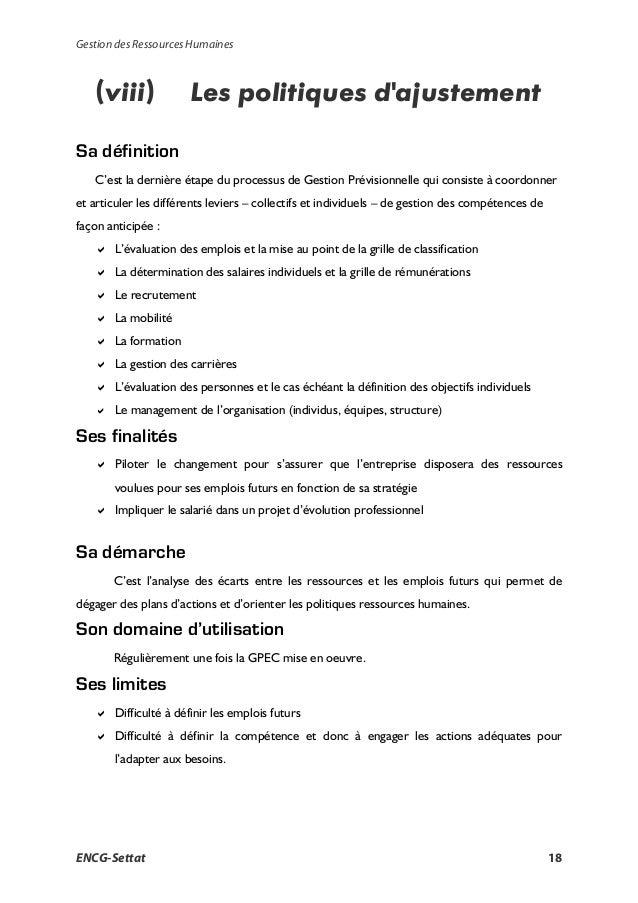 ecofolie la gestion des ressources humaines cours pdf
