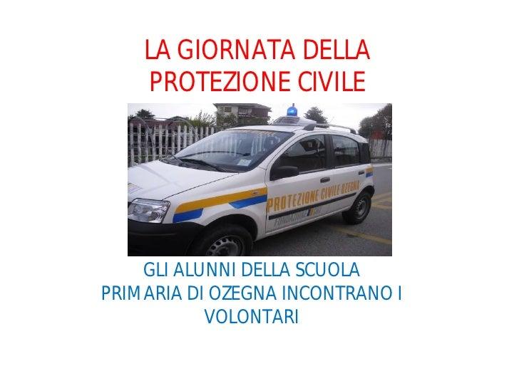 La giornata della protezione civile