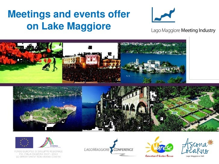 Meetings and events offer   on Lake Maggiore