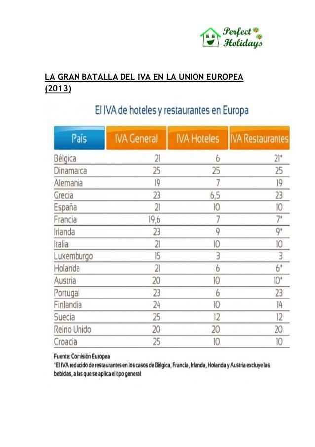 LA GRAN BATALLA DEL IVA EN LA UNION EUROPEA(2013)