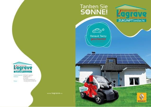 Zukunft bedacht                  Renault Twizy                  geschenkt!                   Im Wert von 6990€*Zukunft bed...