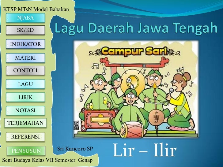 KTSP MTsN Model Babakan     NJABA     SK/KD   INDIKATOR     MATERI    CONTOH      LAGU      LIRIK     NOTASI  TERJEMAHAN  ...