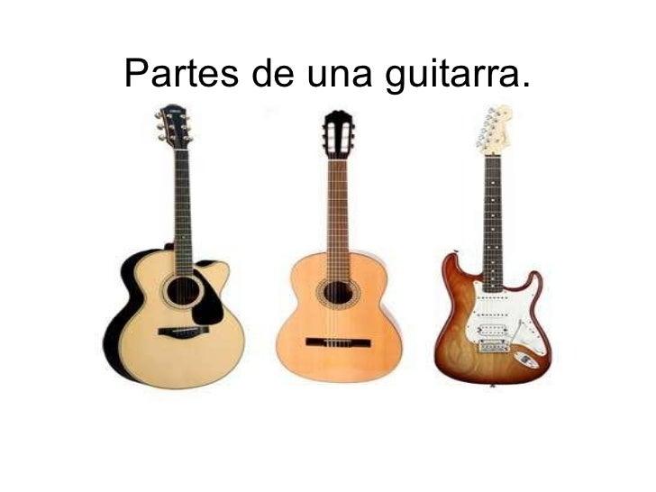 Partes de una guitarra.