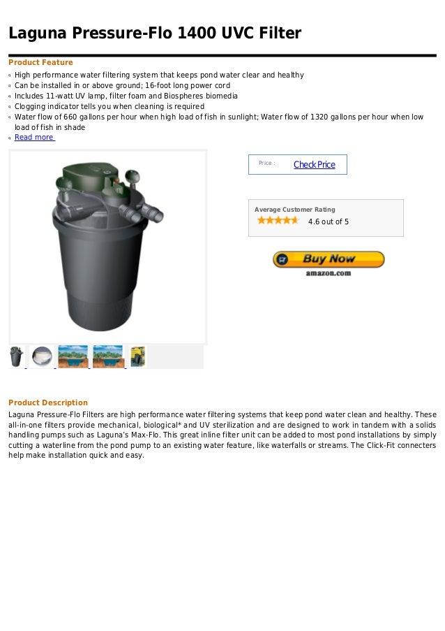 Laguna pressure flo 1400 uvc filter