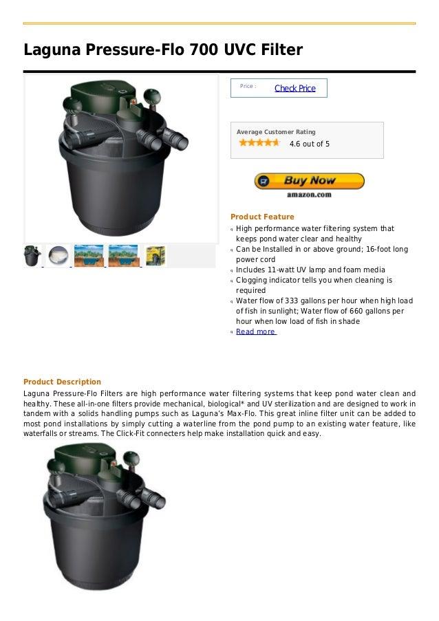 Laguna pressure flo 700 uvc filter