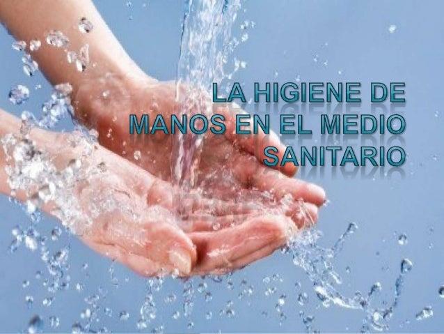 La higiene de las manos powerpoint for Lavado de manos en la cocina