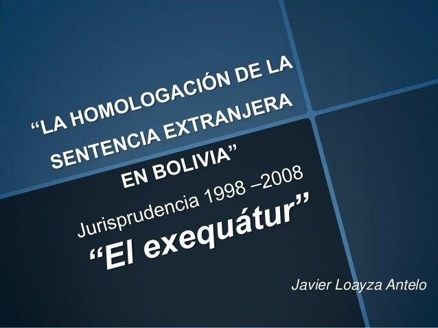 Javier Loayza Antelo