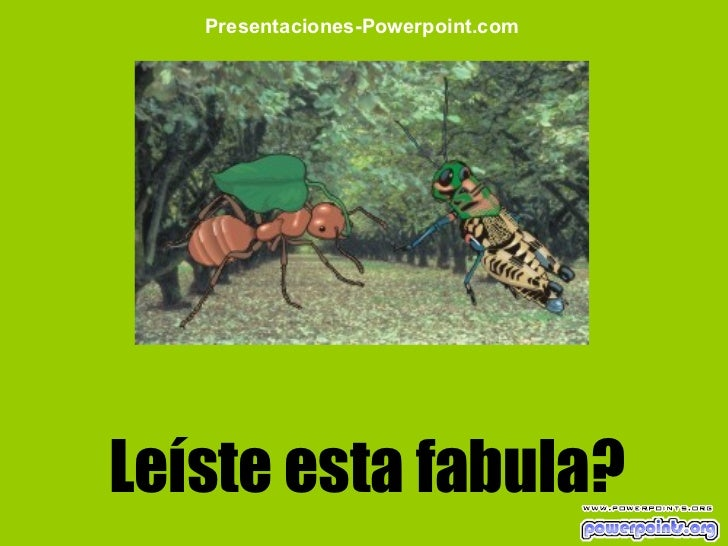 Leíste esta fabula? Presentaciones-Powerpoint.com