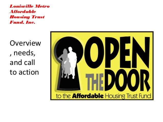Open the door to the affordable housing trust fund