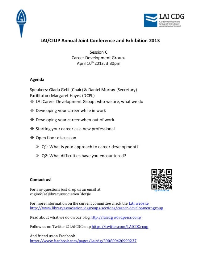 LAI/CILIP Annual Joint Conference and Exhibition 2013                                 Session C                        Car...