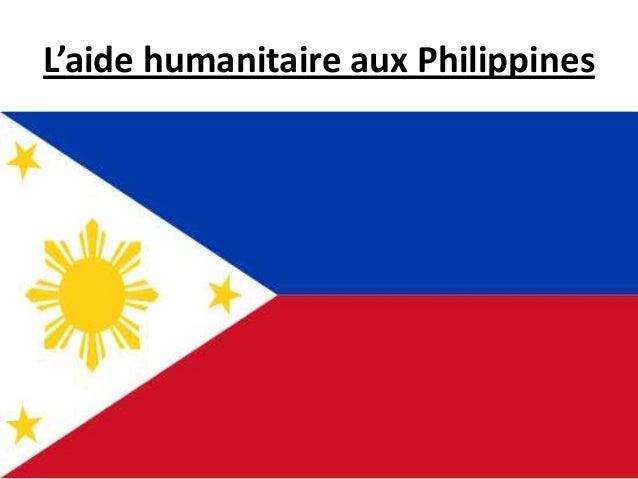 L'aide humanitaire aux Philippines