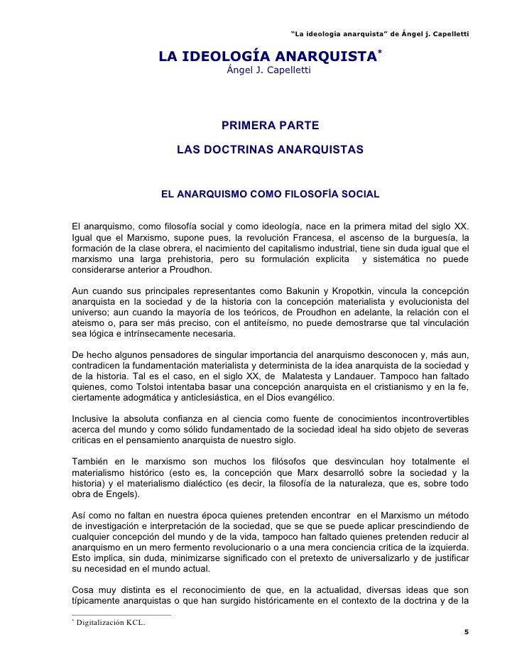 La IdeologíA Anarquista   Angel J. Cappelletti