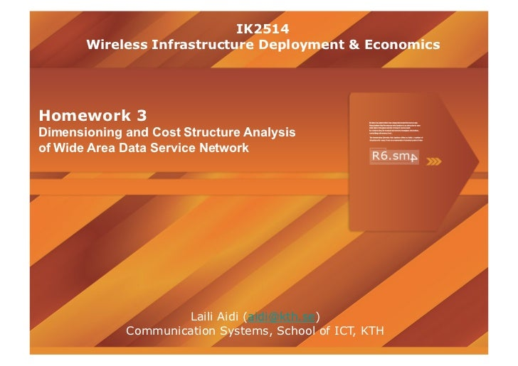 Dimensioning and Cost Structure Analysis of Wide Area Data Service Network - Presentation