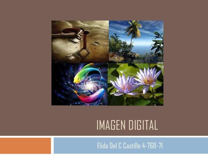IMAGEN DIGITALElida Del C Castillo 4-768-71