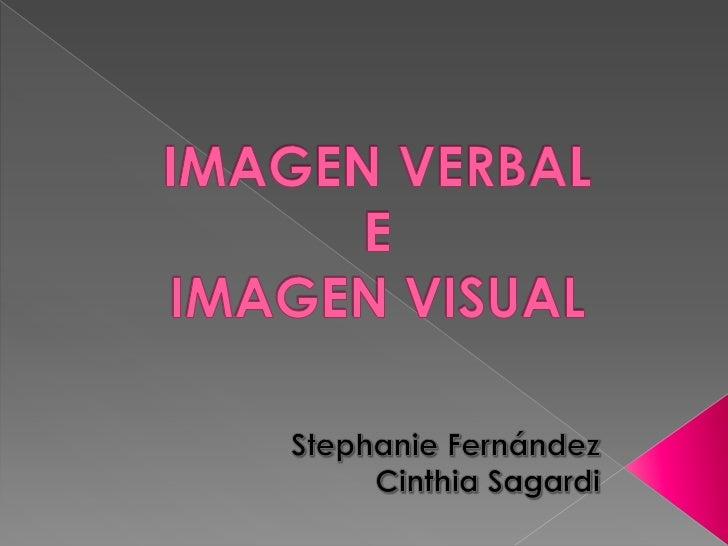 La imagen verbal y visual