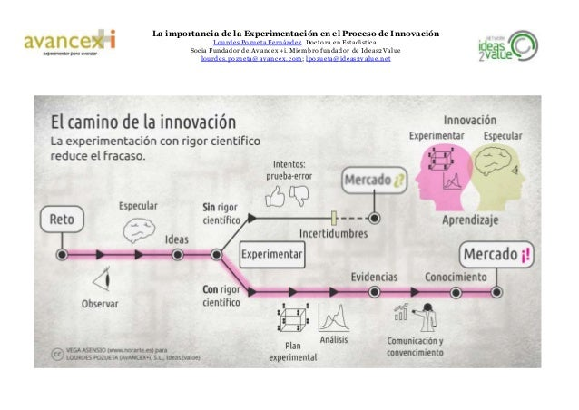 La importancia de la Experimentación en el Proceso de Innovación Lourdes Pozueta Fernández. Doctora en Estadística. Socia ...
