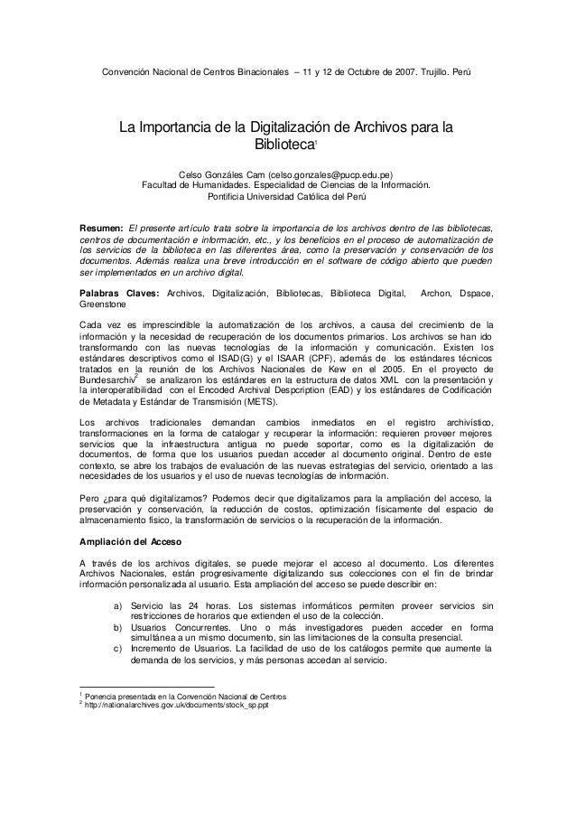 Convención Nacional de Centros Binacionales – 11 y 12 de Octubre de 2007. Trujillo. Perú             La Importancia de la ...