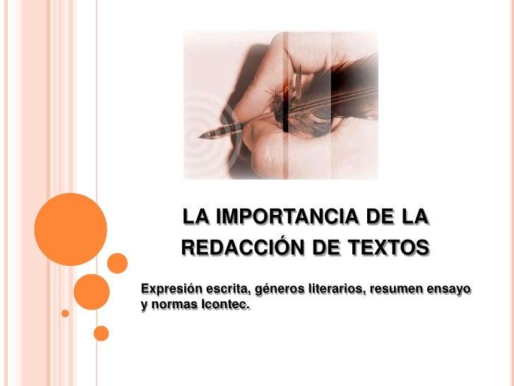 La importancia de la redacci n de textos for Importancia de la oficina