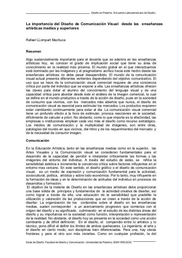 La importancia del Diseño de Comunicación Visual desde las enseñanzas Rafael Llopart