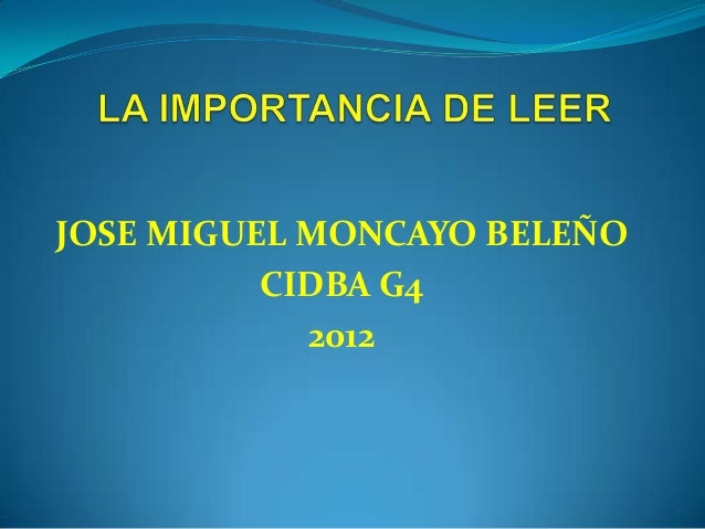 JOSE MIGUEL MONCAYO BELEÑO          CIDBA G4            2012
