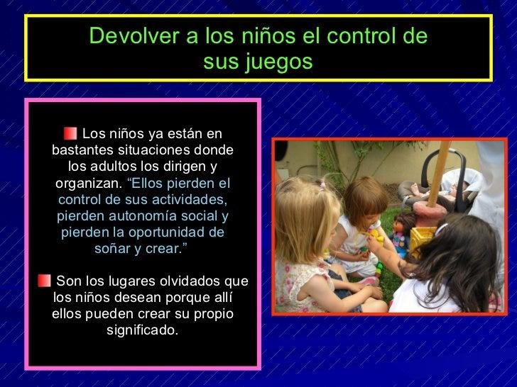 La importancia del juego en el aprendizaje for Juegos para nios jardin de infantes