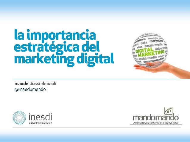 La importancia estratégica del marketing digital