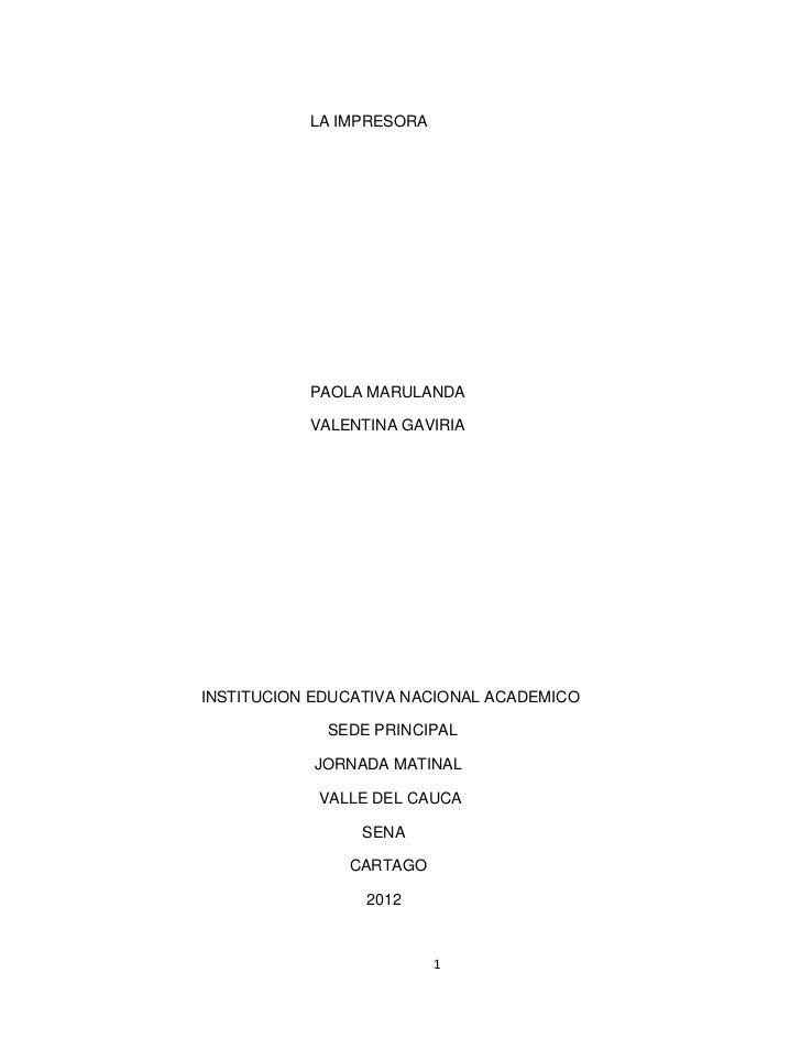 La impresora (1)