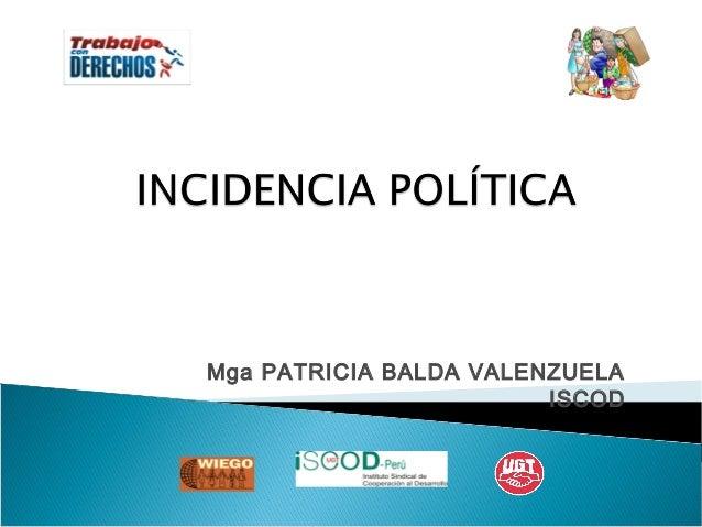 Mga PATRICIA BALDA VALENZUELA ISCOD