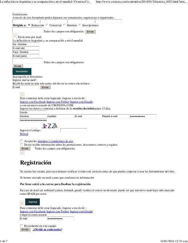 Contáctenos A través de este formulario podrá dejarnos sus comentarios, sugerencias o inquietudes. Dirigido a: Redacción C...